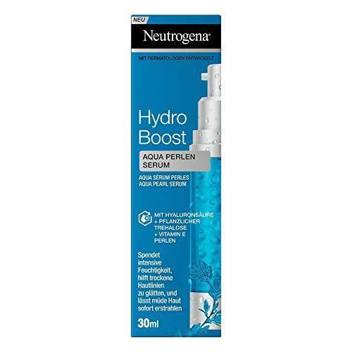 Neutrogena Hydro Boost Aqua Perlen Serum, feuchtigkeitsspendendes Gesichtspflege Serum mit Hyaluronsäure, pflanzlicher Trehalose und Vitamin E Perlen (1 x 30 ml)