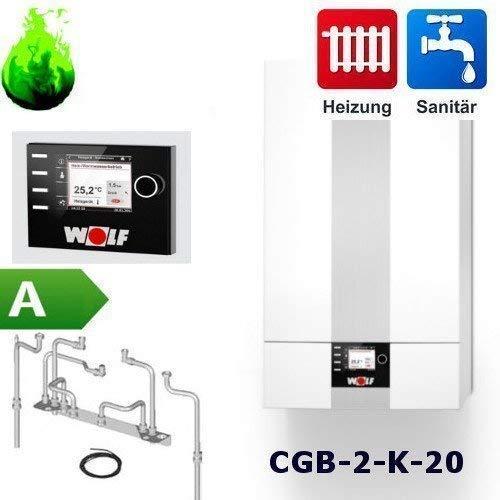Gas-Brennwert-Kombitherme Wolf Paket CGB-2-K-20 mit Regelung BM2, 20kW