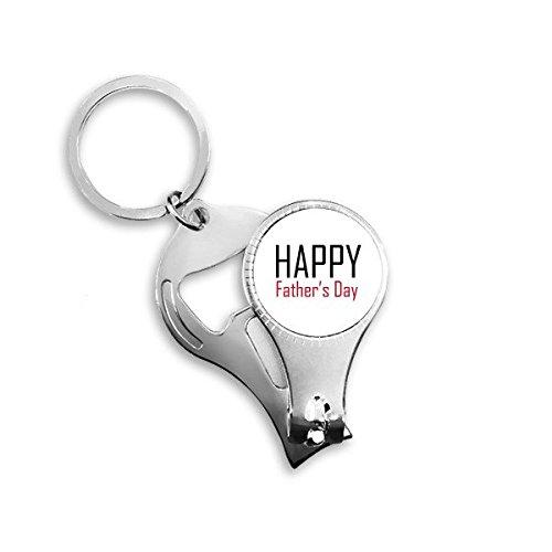 Vier Vaderdag Zegen Festival Vakantie Gala Viering Woorden Metalen Sleutelhanger Ring Multi-functie Nagel Clippers Fles Opener Auto Sleutelhanger Beste Charm Gift