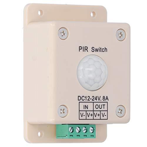 Controlador de sensor de movimiento fácil de instalar con tecnología piroeléctrica de infrarrojos para el cuerpo humano.