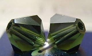 Swarovski Crystal Bicones 5301/5328 4mm Turmaline-- 50 Beads