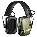 Mpow HP094A Electronic Shooting Ear Protection Rechargeable, Sound Amplification & Auto Cut Off- Army Green