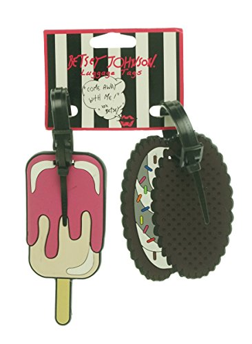 Betsey Johnson   Women's Rubber Ice Cream Luggage Tags Pink O/S  