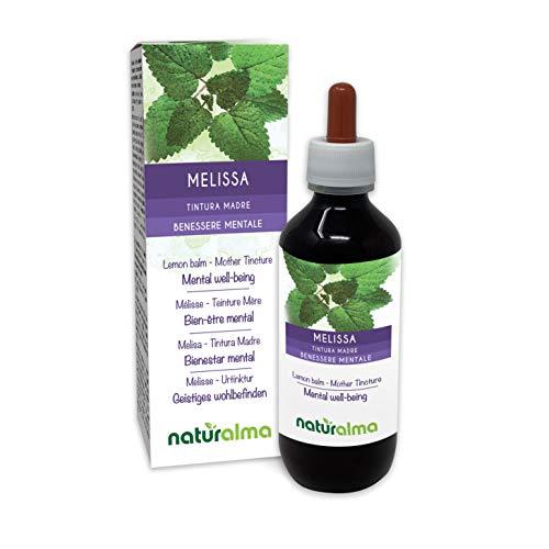 MELISSE oder ZITRONENMELISSE (Melissa officinalis) Blätter Alkoholfreier Urtinktur NATURALMA | Flüssig-Extrakt Tropfen 200 ml | Nahrungsergänzungsmittel | Veganer