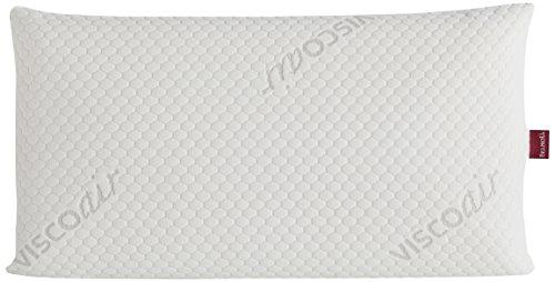 Belnou Almohada con Núcleo Viscogel, Algodón, Blanco, 80x40x14 cm