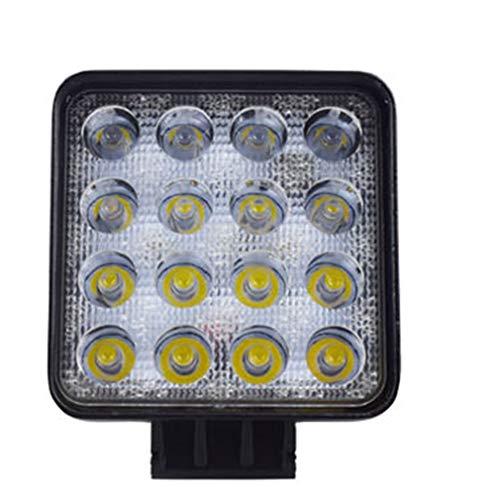 Binghotfire 48W LED DRL Luz de Trabajo Impermeable Luz Cuadrada Coche Camión Foco Negro