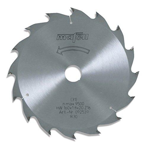 Mafell - hm-sägeblatt mafell 160 x 1,2/1,8 x 20 mm, z 16, wz, für längsschnitte