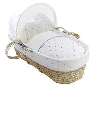 Clair de Lune Palm Moses basket (Lullaby Hearts)