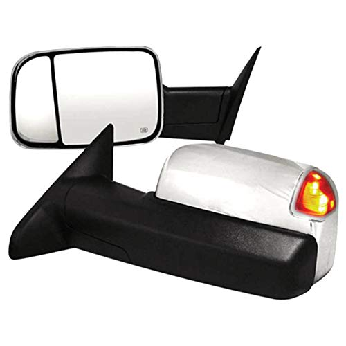 Review Brighter Design Towing Mirrors for 2012 Dodge RAM 2500/3500 [Chrome Power/Heated] Premium FX