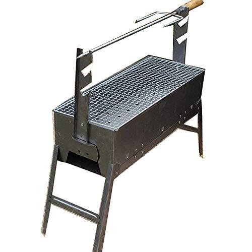 Byx- Grill im Freien - dick gebratener Lammbeinkocher Outdoor-Haushalt tragbarer Grillwerkzeug Vollholzkohlegrill gegrillte Lammkoteletts -elektrogrill