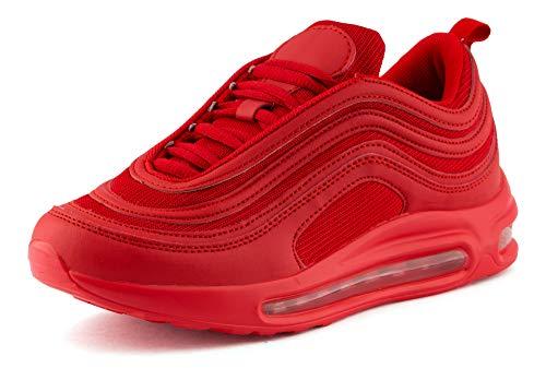 Fusskleidung Damen Herren Sportschuhe Sneaker Dämpfung Laufschuhe Neon Jogging Gym Unisex Rot EU 39