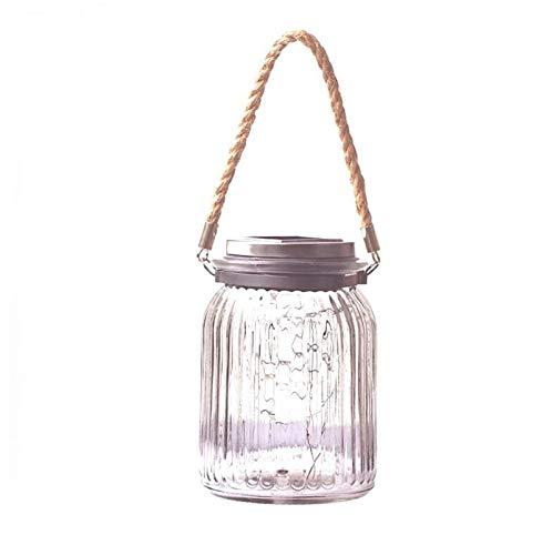 Linterna colgante exterior Colgante Lámpara impermeable lámpara solar del jardín al aire libre Patio Mesa de noche de la lámpara de cristal Luz Villa Jardín Decoración de la lámpara Decoración del pat