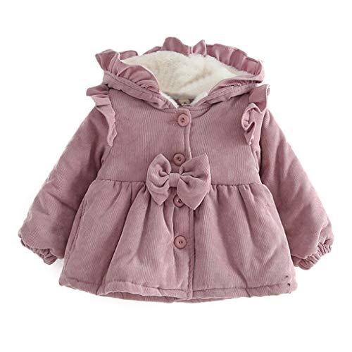 wuayi Baby Mädchen Winterparka Einfarbig Plus Samt Verdicken Mit Kapuze Mäntel Jacken Parka Coat Jacket Winter
