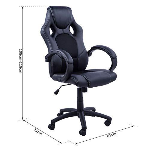 Generic in pelle PU secchio Ather Chair mesh ESH Buc g computer del Ing computer Gaming Racing ufficio computer