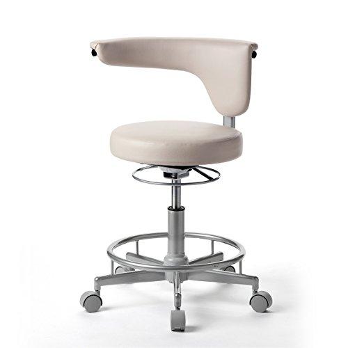 サンワダイレクト 丸椅子 キャスター付き 背もたれ 回転 パソコンチェア キッチン椅子 コンパクト ベージュ 100-SNC019BG