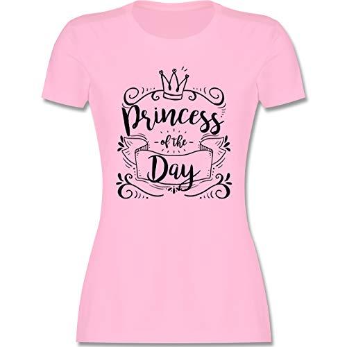 Typisch Frauen - Princess of The Day - M - Rosa - t-Shirt Prinzessin - L191 - Tailliertes Tshirt für Damen und Frauen T-Shirt