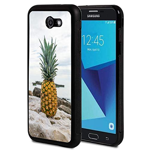 Galaxy J7 Prime (2016) G610 Case,Vobber Slim Anti-Scratch Architecture TPU Shockproof Protective Case Cover for Samsung Galaxy J7 Prime 2016 G610 / On7 2016,Pineapple Rocks Beach