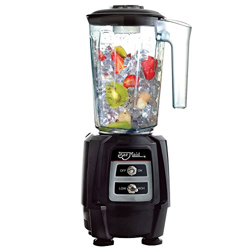 Bar Maid BLE-110 1 HP 2 Speed Commercial Bar Blender, Black