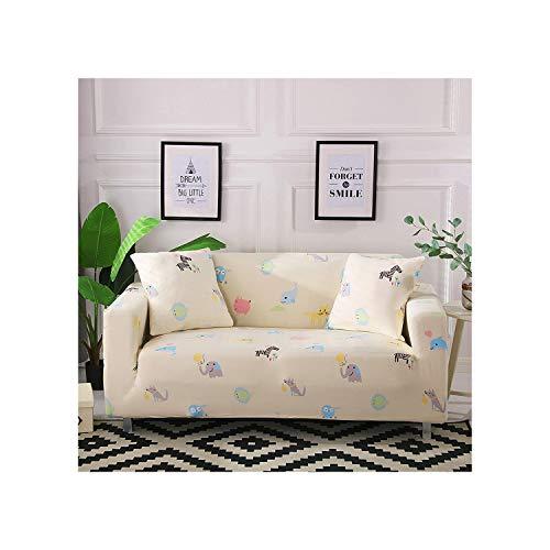 Cheryl Norri Geometric Elastic Stretch-Sofa-Abdeckung Schutz Slipcovers All Inclusive Sitz Couch Fall-Abdeckung für Heim Wohnzimmer, K362,2Pcs Kissenbezüge