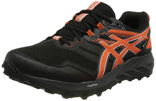 Asics Gel-Sonoma 6 G-TX, Trail Running Shoe Hombre, Black/Marigold Orange, 45 EU