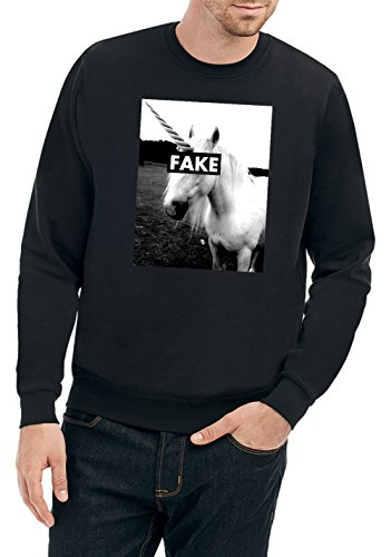 Certified Freak Fake Unicorn Sweater Black M