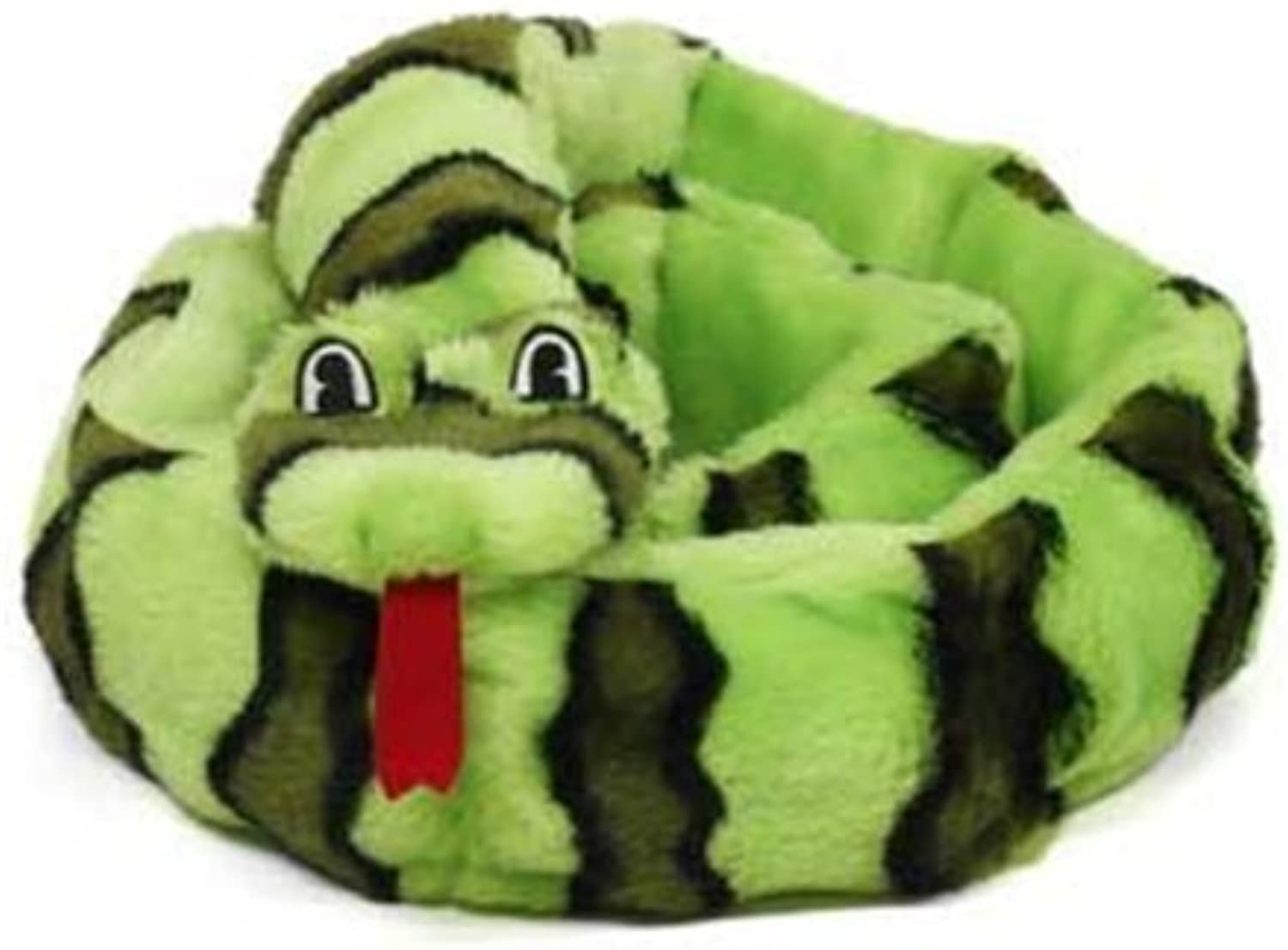 Kyjen Invincibles Plush Snake Stuffingless Durable Dog Toys 12squeaker 2436, Extra Large, Green by Kyjen (English Manual)
