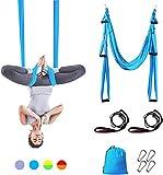 Gutsbox Columpio de Yoga Aéreo Hamaca de Yoga, Yoga Aéreo, Yoga Trapecio, Antigravedad Swing Sling Inversión, 210T Nailon 250x150cm para Interiores y Exteriores con Salud