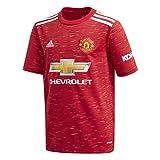 adidas Manchester United Temporada 2020/21 MUFC H JSY Y Camiseta Primera equipación, Niño, Rojrea, 140