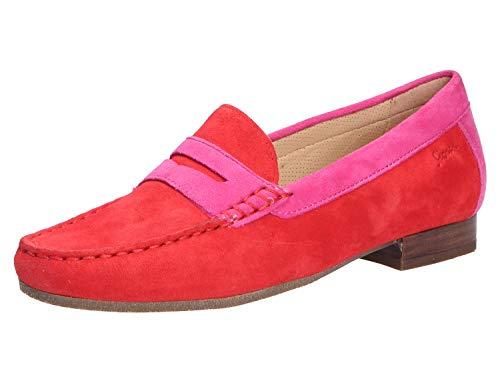Sioux Damen Corbina Mokassin, Rot (Fire/Pink 005), 39.5 EU