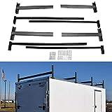 Riwful Adjustable Roof Ladder Racks Fit for 4'-7' Wide Enclosed Trailers Cargo Vans Trucks or Pickups