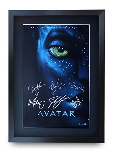 HWC Trading Avatar A3 Incorniciato Firmato Regalo Visualizzazione delle Foto Print Immagine Autografo Stampato per Gli Appassionati di Cinema