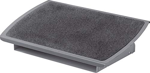 "3M Foot Rest, Height and Tilt Adjustable, 22"" Extra Wide Platform with Safety-Walk Slip Resistant Surface Provides Ample Room for Both Feet, Heavy Duty Steel Construction, Charcoal Gray (FR530CB)"