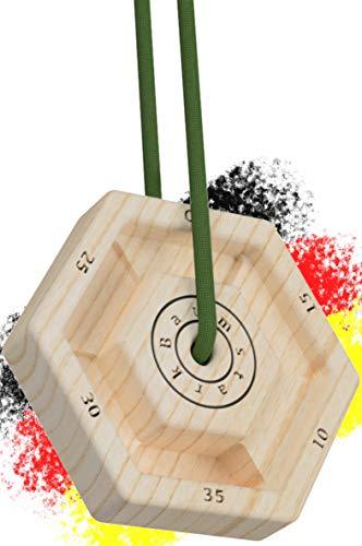 WHEYGHT *NEU* Baumstark Polygon Trainingsboard I Hangboard mobil aus Holz I Fingerboard zum Klettern & Bouldern (1)