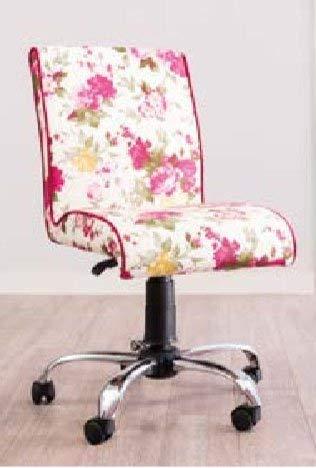 Sedia da scrivania a fantasia di fiori - H. 92 X L. 58 P. 60 (SF11)