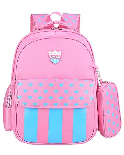 AnyuA Zaino per Bambini da Scuola Adorabile All'aperto Casual Daypack Pink L