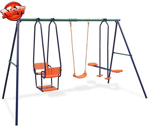 ZMIHANNA Stärker Haltbare Schaukelset Kinder Outdoor Mit 5 Sitzen, Sicherer Kinderschaukel Für Kinder...