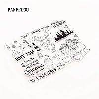 ミル鹿の森DIYスクラップブッキング/フォトアルバム用の透明なクリアシリコーンスタンプ/シール装飾的なクリアスタンプシート