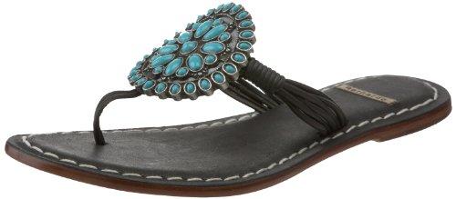 Bernardo Women's Mosaic Sandal,Cocoa/Turquoise,8 N US