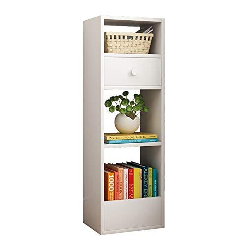 Yinglihua Libreria Espositore Multiuso Bianco A 4 Strati for Uso Nell'ufficio del Soggiorno Libreria Stand-up (Colore : Bianca, Dimensione : 30 * 25 * 90cm)