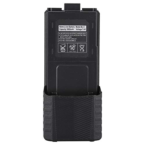 Walkie Talkie batería de Iones de Litio Original batería de Iones de Litio Original de 7,4 V 3800 mAh para Radio bidireccional Baofeng UV-5R BL-5L UV 5R Serie(Negro)