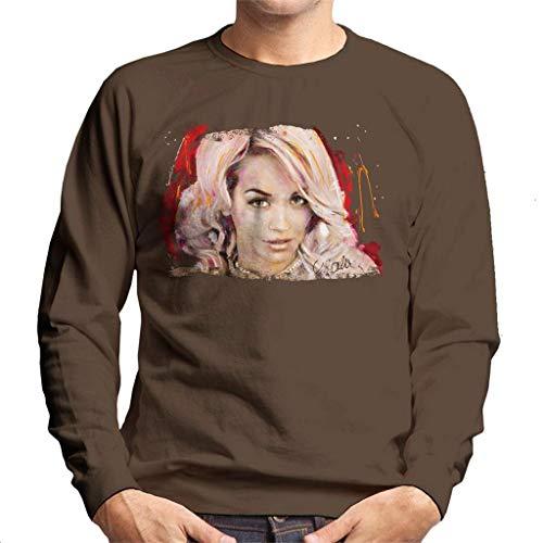 VINTRO Sidney Maurer Original Portrait of Rita Ora Pink Hair Men's Sweatshirt
