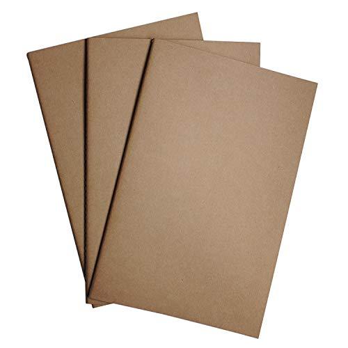 A5 punktierte Notizbuch Einsätze als 3er Set - Notebook Einlageblätter für ein nachfüllbares Reisejournal, Tagebuch, Skizzen oder Planer | 21 cm x 14 cm