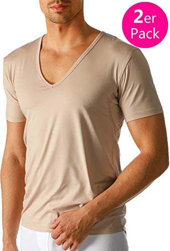 Mey - 2er-Pack V-Neck Business Shirt ''Dry Cotton Functional'' beige (Das ''Drunterhemd'') 7