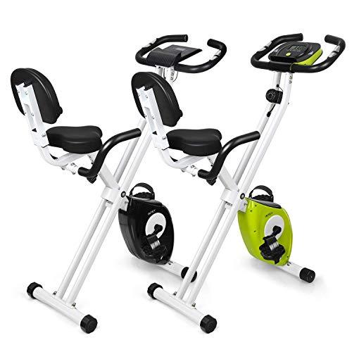 INTEY Bicicleta Estática Plegable F-Bike con 16 Niveles Resistencia Magnética Ajustable y...