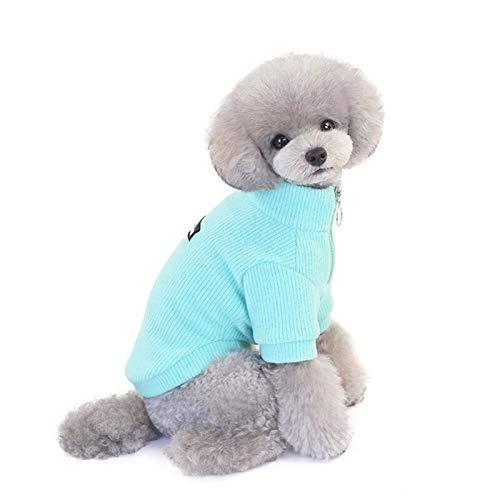 LLKK Ropa para mascotas cachorro perro suter de invierno mascotas ropa caliente con cremallera suter de color slido clido suter de punto de perro (color: QL, tamao: L)
