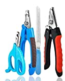 Bobocawa Dog Nail Clippers Trimmer Set - Safety Guard to Avoid Over-Cutting Big Clipper for Thick Nails Razor Sharp Blades Professional at Home Grooming Dog Cat Rabbit
