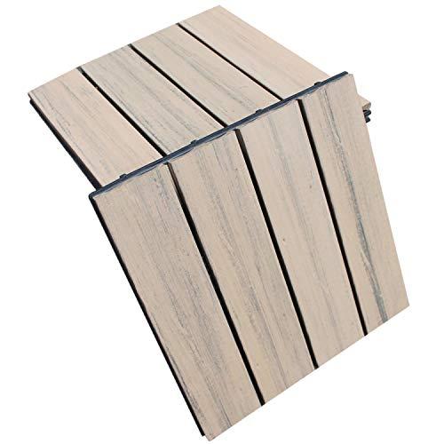 Top-Multi WPC Holz Fliese profiliert 30x30cm braun Musterfliese - 1 Stk.