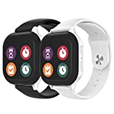 2 Pack Gizmo Watch Band Replacement for Kids, Soft Silicone 20mm Smartwatch Band for Men Women Compatible with Gizmo Watch 2 / Gizmo Watch 1
