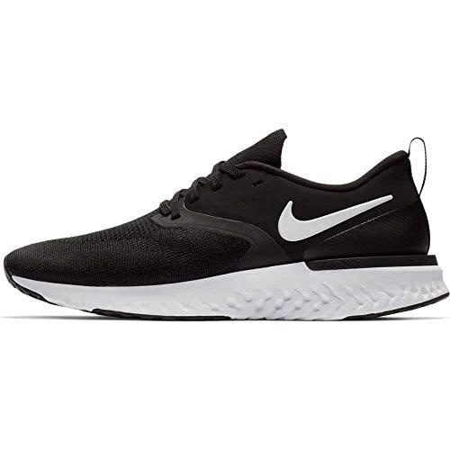 Nike Men's Odyssey React 2 Flyknit Running Shoe, Black/White, 12 UK