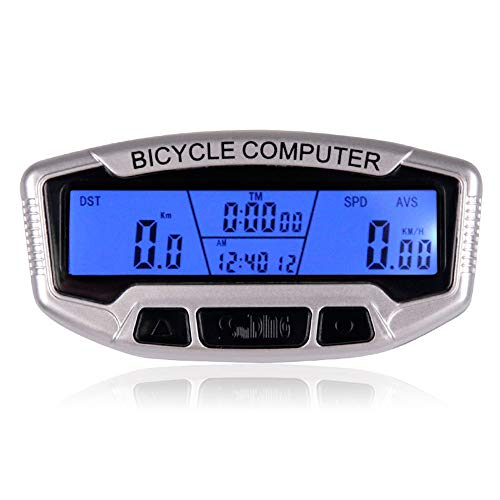 YUEWO Digital LCD Cycling Speedometer and Odometer Wireless Waterproof Bicycle Computer with 28 Functions Bicycle Accessories